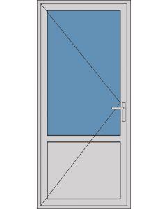 Aluminium enkele deur borstwering A160