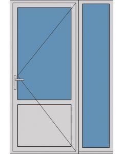 Aluminium enkele deur borstwering A175