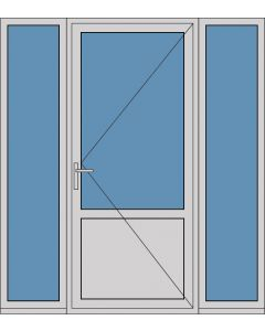 Aluminium enkele deur borstwering A179