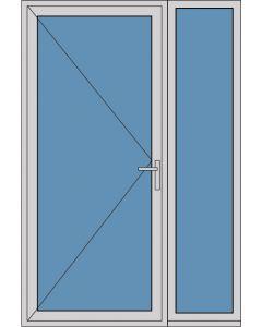 Aluminium enkele deur A288