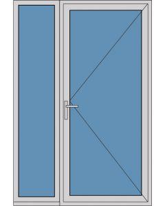 Aluminium enkele deur A289