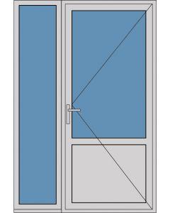 Aluminium enkele deur borstwering A305