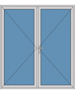 Aluminium dubbele deur T181