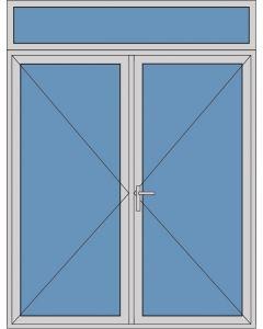 Aluminium dubbele deur T182