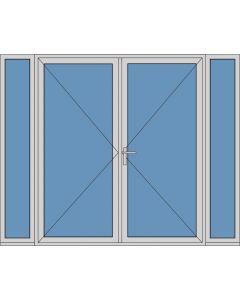 Aluminium dubbele deur T184