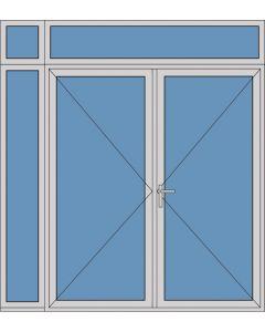 Aluminium dubbele deur T185