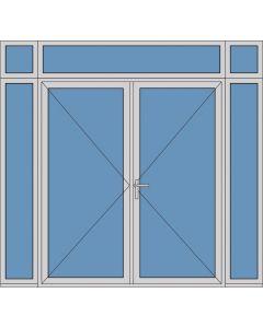 Aluminium dubbele deur T186