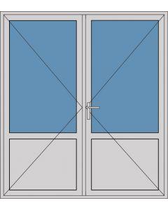 Aluminium dubbele deur borstwering T379
