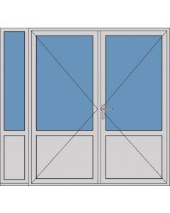 Aluminium dubbele deur borstwering T380