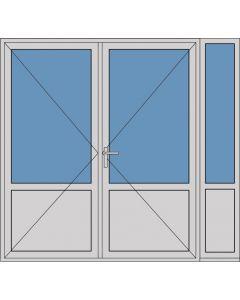 Aluminium dubbele deur borstwering T381