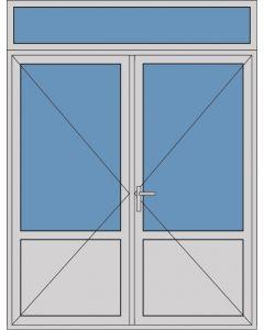 Aluminium dubbele deur borstwering T383