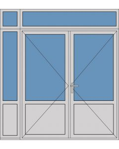 Aluminium dubbele deur borstwering T384