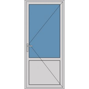 Aluminium enkele deur borstwering A159