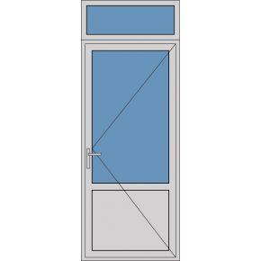 Aluminium enkele deur borstwering A161