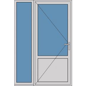 Aluminium enkele deur borstwering A176
