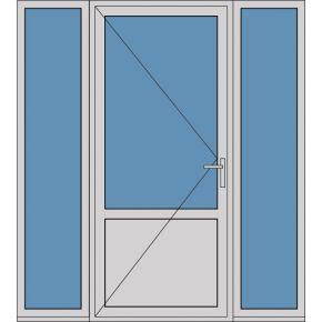 Aluminium enkele deur borstwering A180