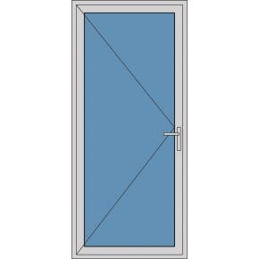 Aluminium enkele deur A248
