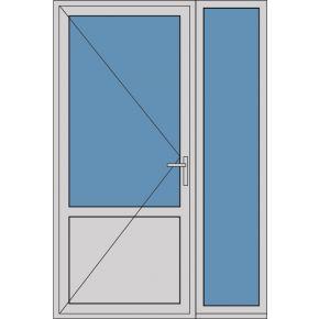 Aluminium enkele deur borstwering A304