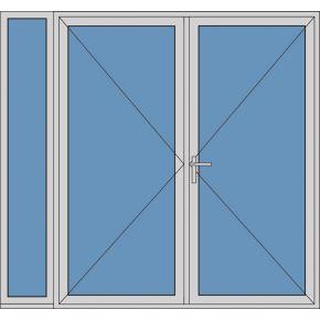 Aluminium dubbele deur T183