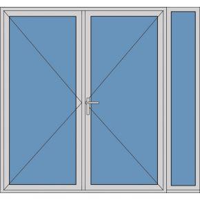 Aluminium dubbele deur T273