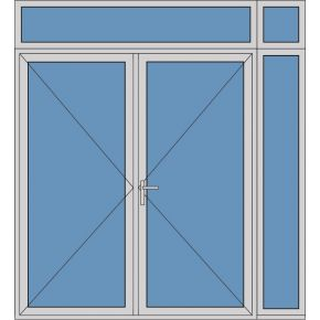 Aluminium dubbele deur T274